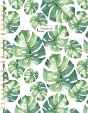 Leaves spiraalboek groot (ruiten) / Leaves grand carnet à spirale (quadrillé)