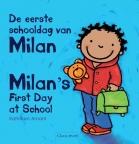 De eerste schooldag van Milan; Milan's first day at school