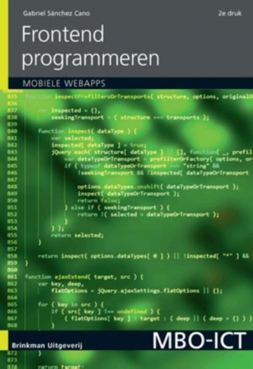 Frontend programmeren, incl. mobiele applicaties