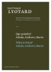 Jean-Francois Lyotard boeken