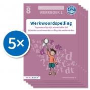 Werkwoordspelling werkboek 1 groep 8 (Set van 5)
