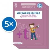 Werkwoordspelling werkboek 1 groep 6 (Set van 5)