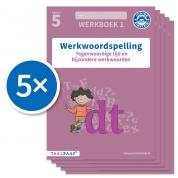 Werkwoordspelling werkboek 1 groep 5 (Set van 5)