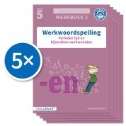 Werkwoordspelling werkboek 2 groep 5 (Set van 5)